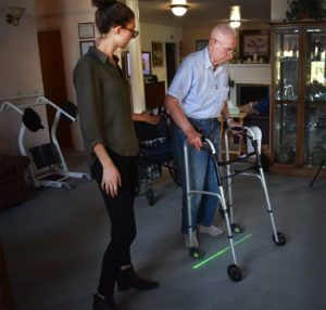 "Device Provides On-Demand Cues to Recover from ""Freezing of Gait"""
